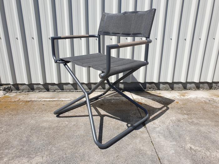 Bastingage premium outdoor directors chair in Slate grey finish
