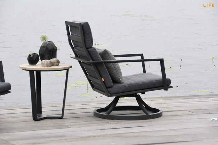 Maroon outdoor swivel chair by Life
