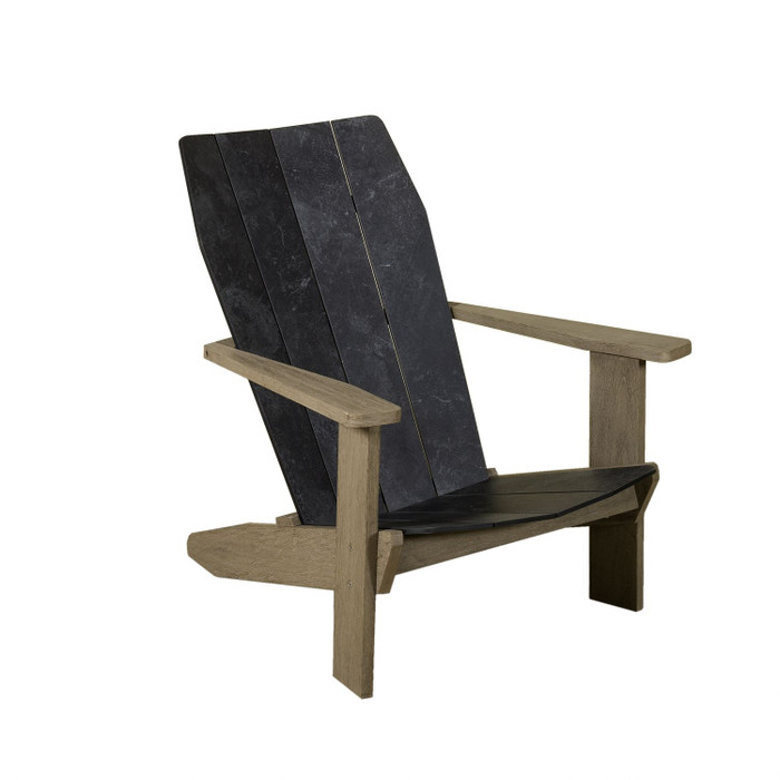 Copenhague outdoor Adirondack chair by Les Jardins with HPL seat and base