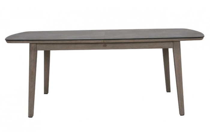 Copenhague  outdoor table with faux slate grey top - closed