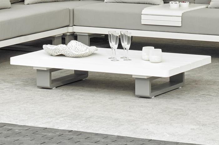 Bora Bora outdoor aluminium coffee table in 2 tone finish