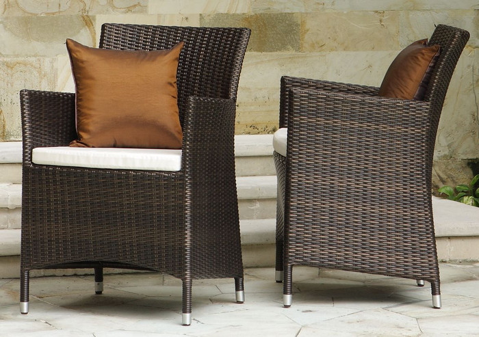 Hawaii outdoor armchair - 6mm flat weave wicker