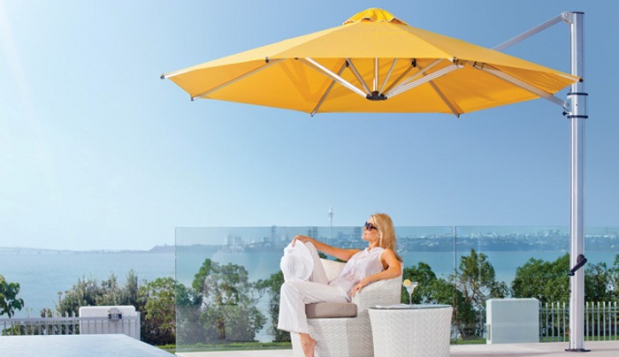 Riviera umbrella with upgraded premium colour