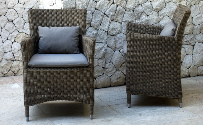 Hawaii outdoor armchair - 4mm round wicker 'Summergrass'