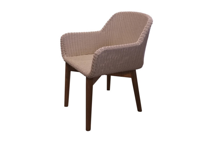 Odawa outdoor rattan, synthetic wicker dining arm chair