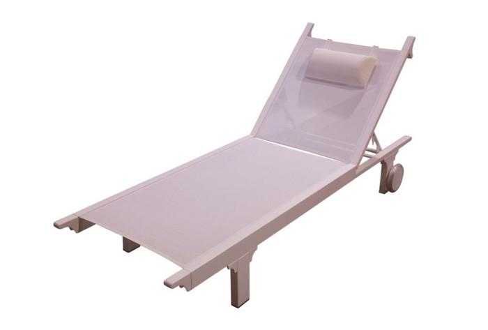 Classique Aluminium and sling sunlounger