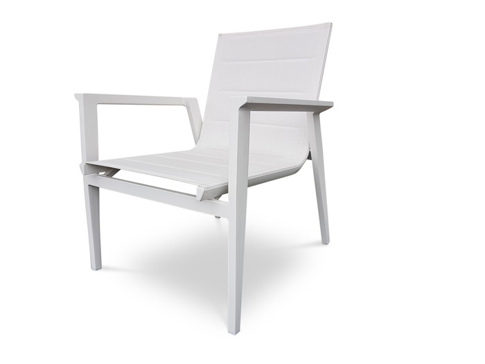 Ether Lounge Chair - WHITE FRAME/GREY SLING