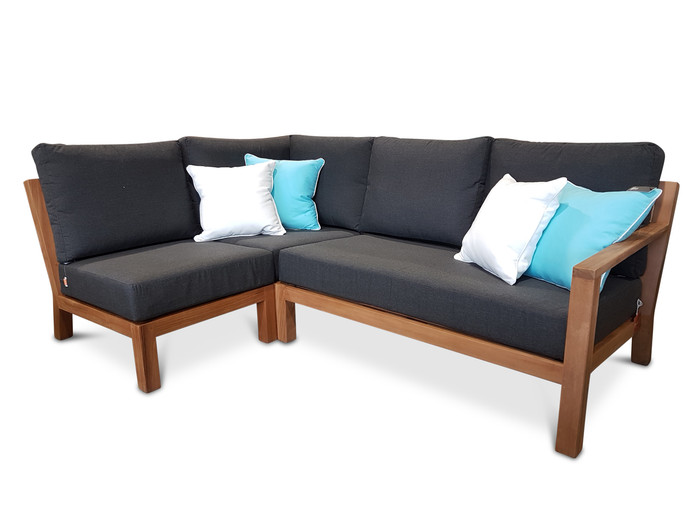 Scatter cushions are not included Configuration includes : 1 x corner, 1 x single and 1 x left arm sofa
