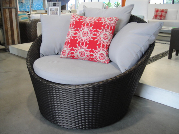 Love seat outdoor rattan 110cm