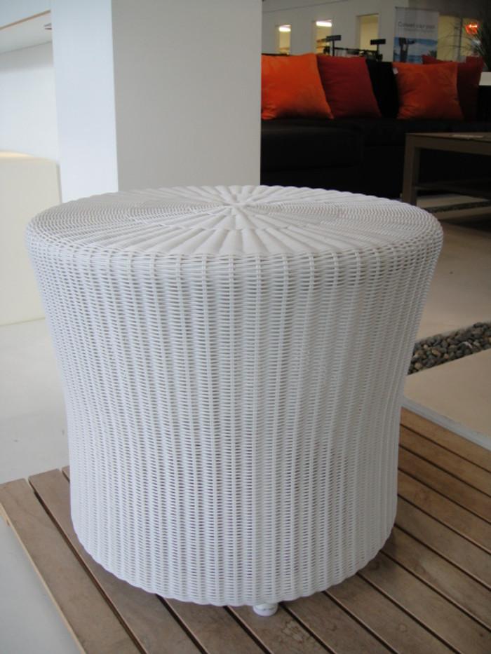 Lami outdoor lamp table - Broken White Colour