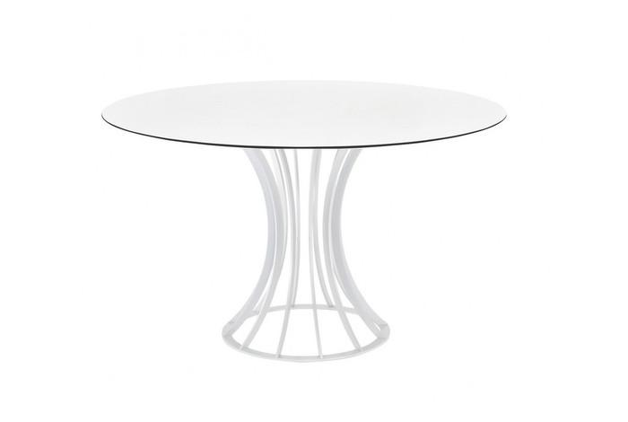 Onix outdoor dining table with HPL top - 120cm diameter