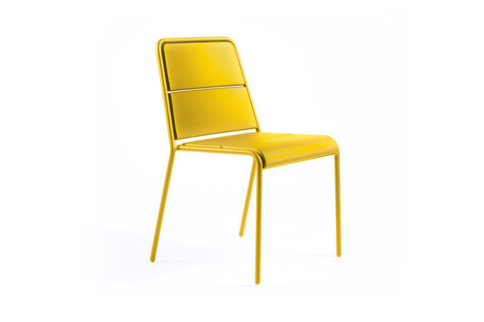Maiori A600 Outdoor Aluminium Side Chair – Mustard Yellow