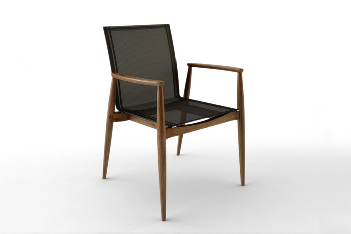 Odawa Reclaimed Teak And Sling Arm Chair