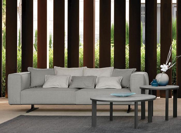 Eden Outdoor Aluminium Framed Fabric Sofa By Talenti
