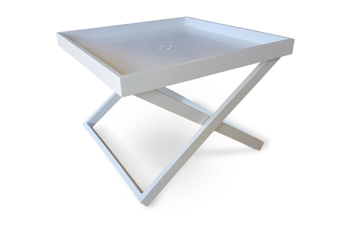 Miami Tray Side Table 60x60x45h White