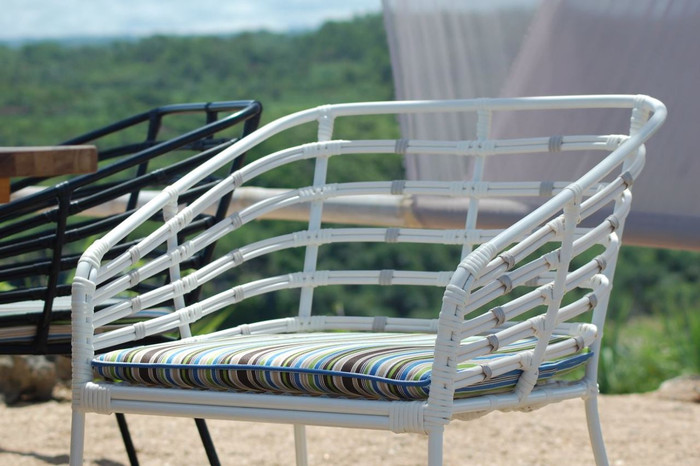 Miyako Outdoor Cord And Aluminium Dining Arm Chair