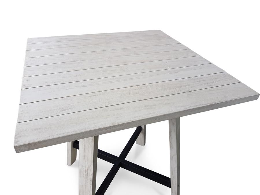 Tele Aged Teak Outdoor Bar Table - 2 Sizes