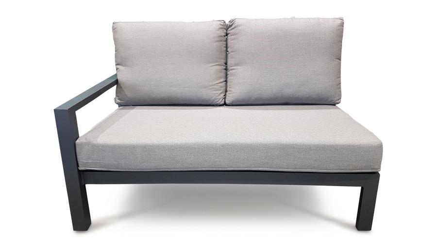 Life Timber outdoor aluminium modular left arm sofa