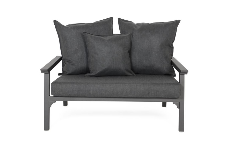 Maiori 2 person love seat 120cm wide. PLEASE NOTE : actual fabric differs from image. Refer Maiori Classique arm chair for example of actual fabric.