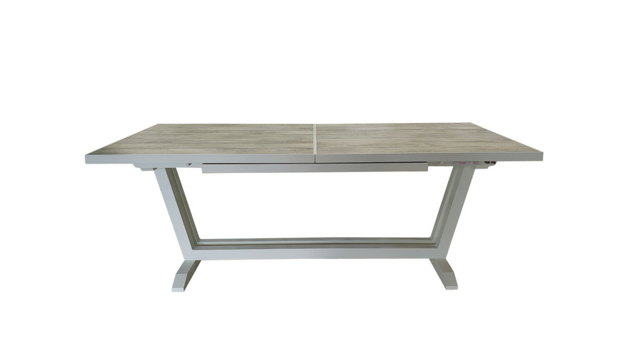 Amaka table in white, closed position