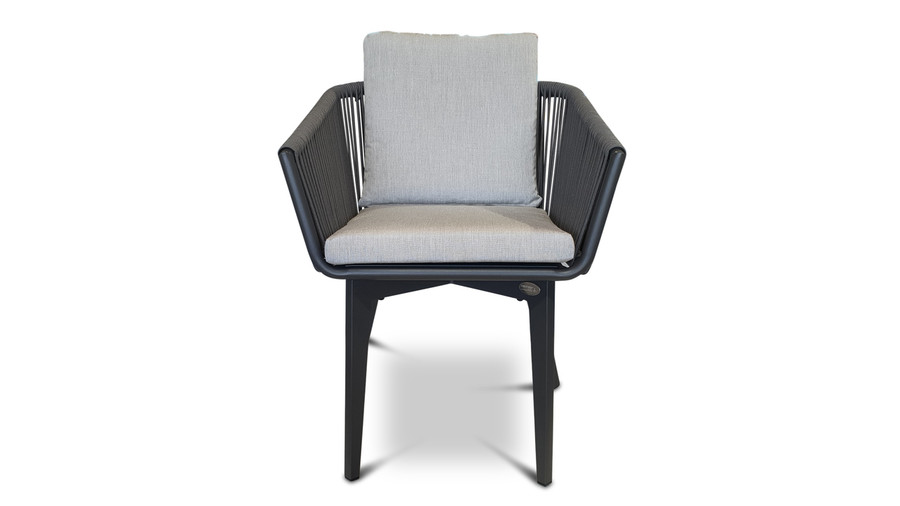 front view of Diva outdoor dining arm chair