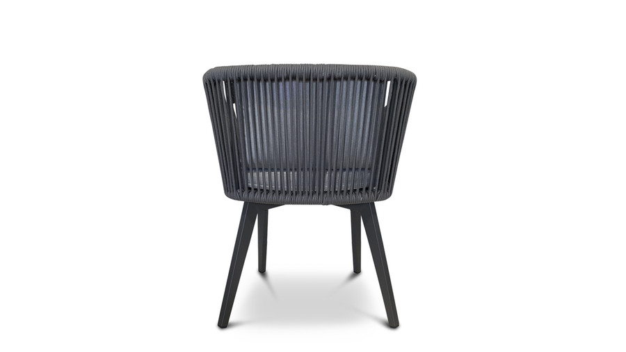 rear view of Diva outdoor dining arm chair