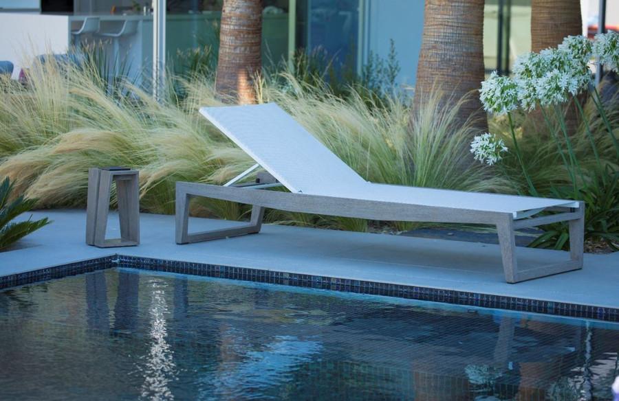 Skaal sun lounger poolside