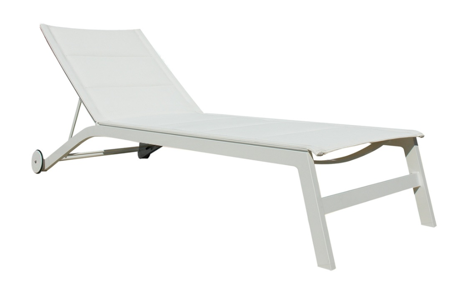 Boston sun lounger in white