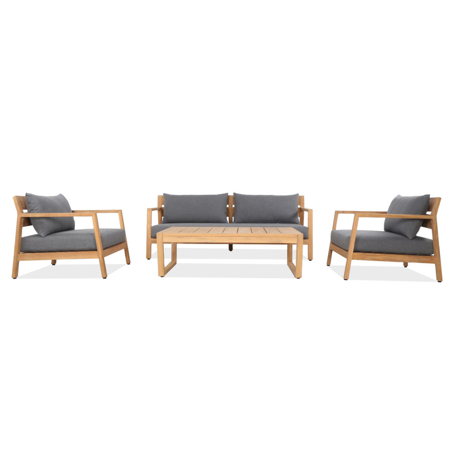 Complete Kisbee  lounging set including sofa, arm chair and coffee table