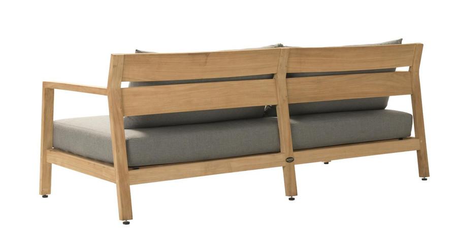 Rear view of Devon Kisbee outdoor teak sofa