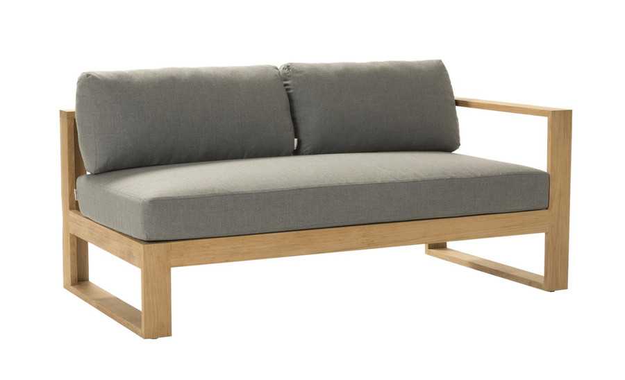 Devon Milford outdoor teak left arm sofa. Part of the Milford corner sofa set