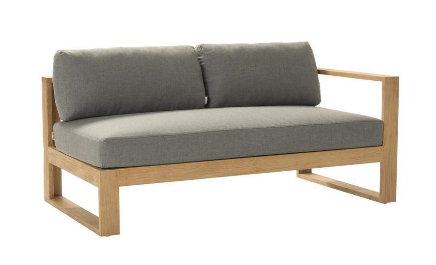 Devon Milford outdoor teak left arm sofa. Part of the Milford corner sofa set