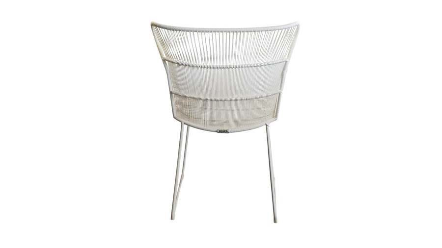 Rear view of Bunga outdoor cord wicker chair