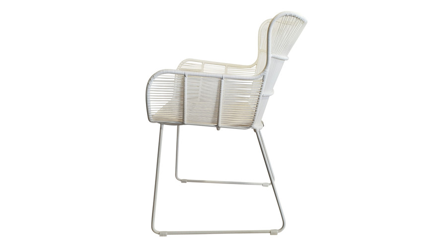 Side view of Bunga outdoor cord wicker chair