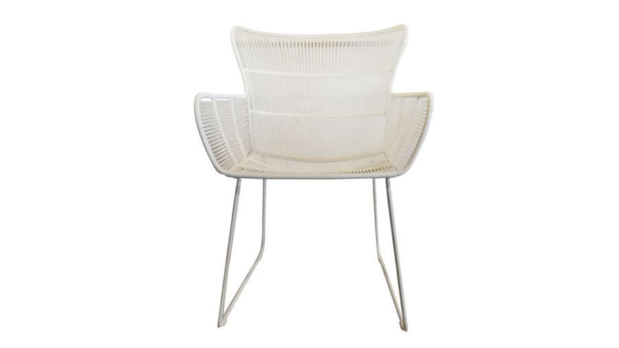 Front view of Bunga outdoor cord wicker chair