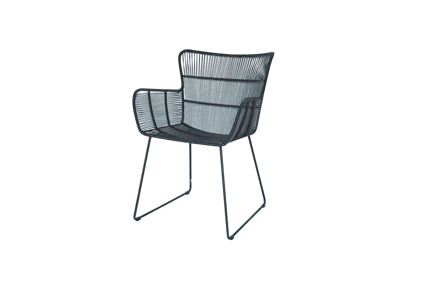 Bunga outdoor cord wicker chair in lava finish