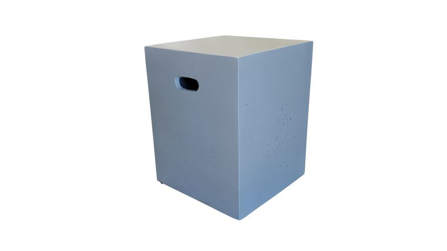 Lightweight limestone concrete square stool