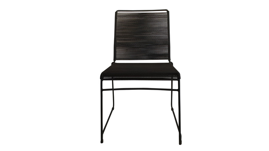 Front view of James outdoor dining side chair in Lava Rope