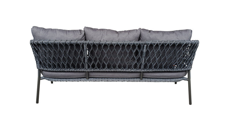 Rear view of Cancun Outdoor Rope-effect Cord And Aluminium sofa