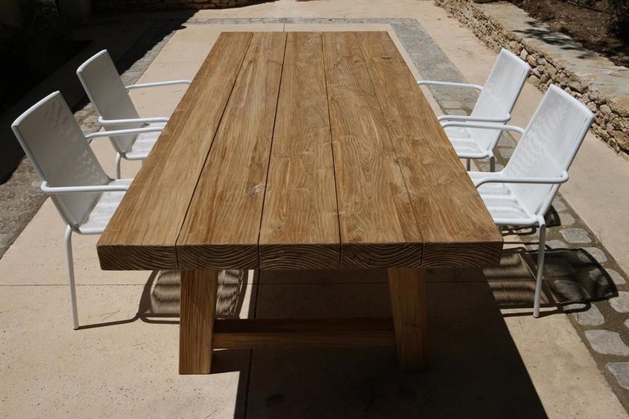 Representative image of Block 300x110 table in-situ showing shape. Original finish.