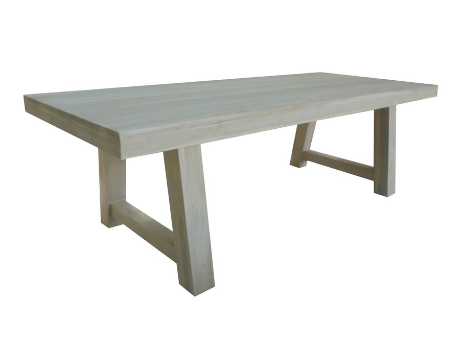 Block outdoor aged teak table in Antique finish. This is the table that is represented by this listing.