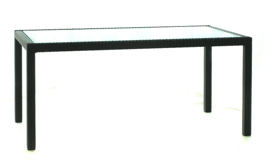 Darwin woven wicker table - 165x90cm