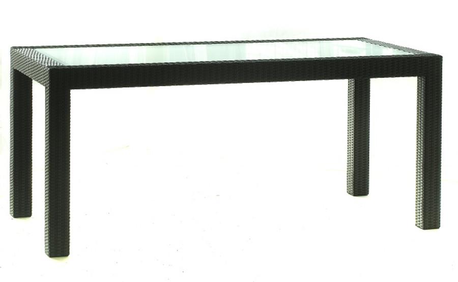 Darwin woven wicker table - 220x100cm