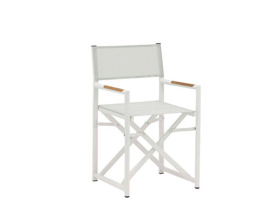 Polo Directors Chair in white with Batyline mesh