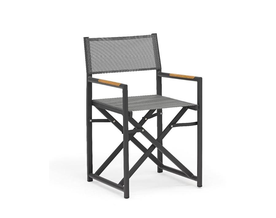 Polo Directors Chair in dark grey with Batyline mesh