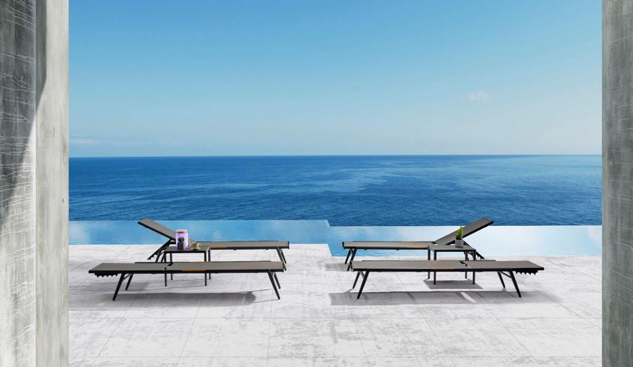 Versatility of the Polo outdoor sun lounger