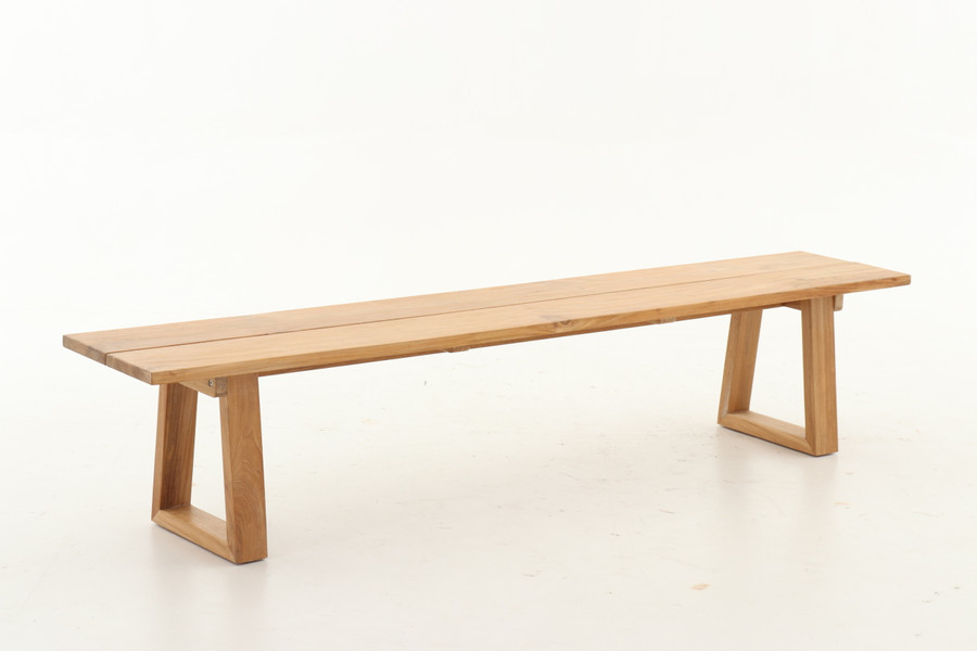 Joseph teak outdoor bench seat. 2.2m