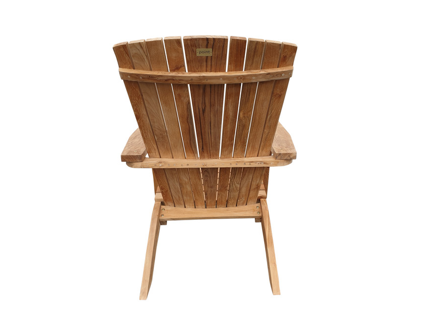 Rear view of Cape Cod outdoor teak lounge chair