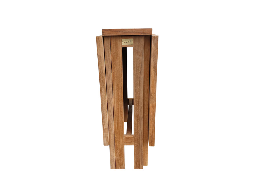 Teak folding butterfly table - both sides down