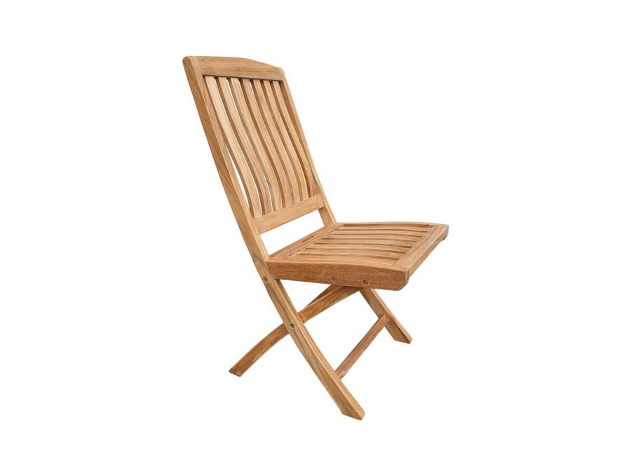 Luxus teak folding side chair